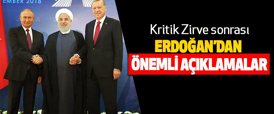 Kritik Zirve sonrası Erdoğan'dan Önemli Açıklamalar