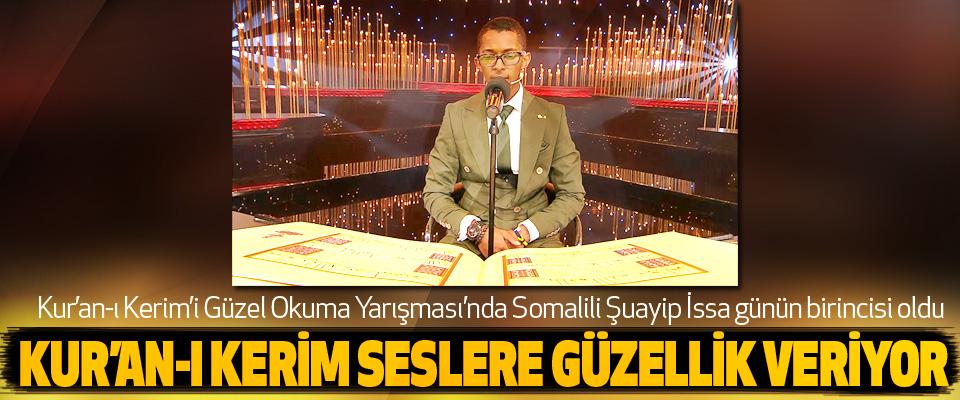 Kur'an-ı Kerim'i Güzel Okuma Yarışması'nda Somalili Şuayip İssa günün birincisi oldu