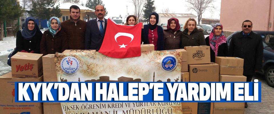 Kyk'dan Halep'e Yardım Eli