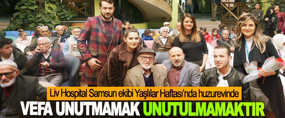 Liv Hospital Samsun ekibi Yaşlılar Haftası'nda huzurevinde