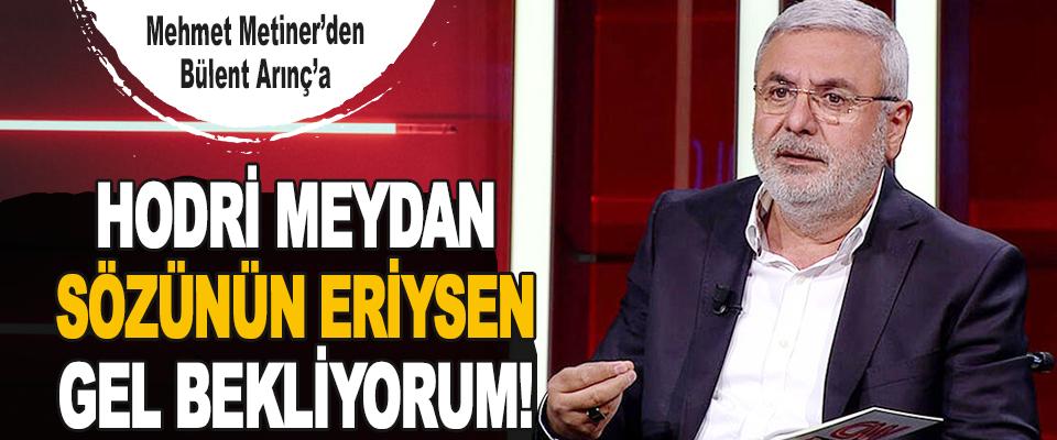 Mehmet Metiner'den Bülent Arınç'a Hodri Meydan, Sözünün Eriysen Gel Bekliyorum!