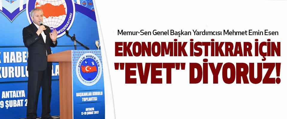 Memur sen, Ekonomik istikrar için