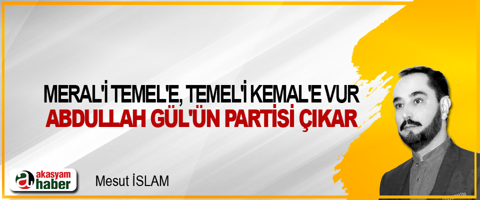 Meral'i Temel'e, Temel'i Kemal'e Vur, Abdullah Gül'ün Partisi Çıkar
