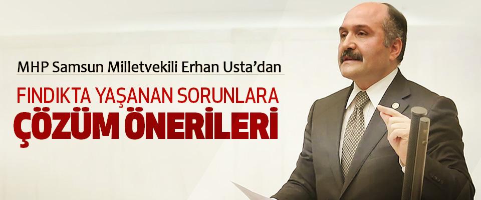 MHP Samsun Milletvekili Erhan Usta'dan Fındıkta Yaşanan Sorunlara Çözüm Önerileri