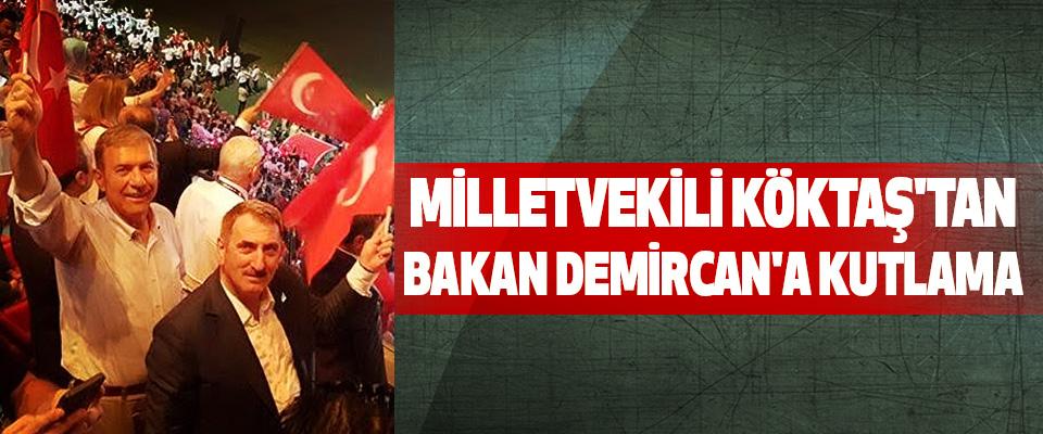Milletvekili Köktaş'tan Bakan Demircan'a Kutlama