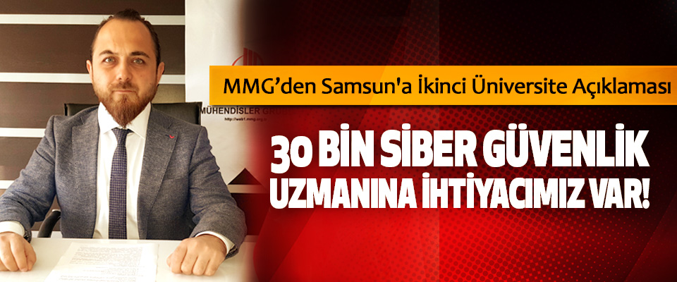 MMG'den Samsun'a İkinci Üniversite Açıklaması