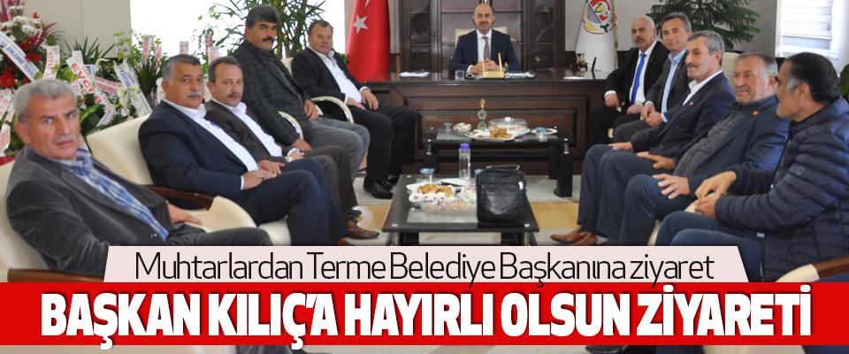 Muhtarlardan Terme Belediye Başkanına ziyaret