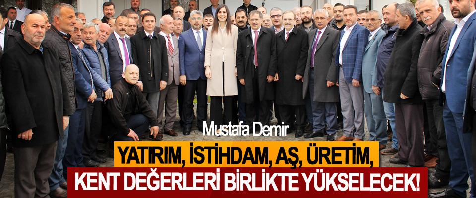 Mustafa Demir; Yatırım, istihdam, aş, üretim, kent değerleri birlikte yükselecek!