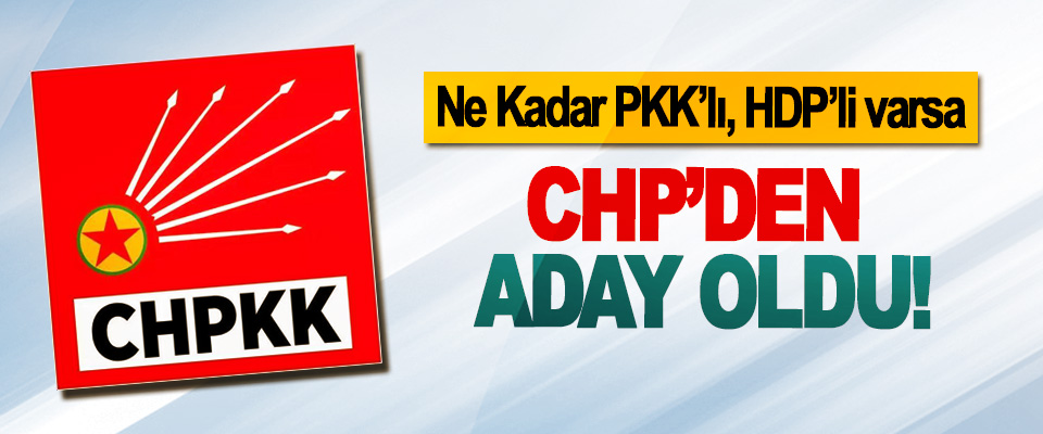Ne Kadar PKK'lı, HDP'li varsa CHP'den aday oldu!