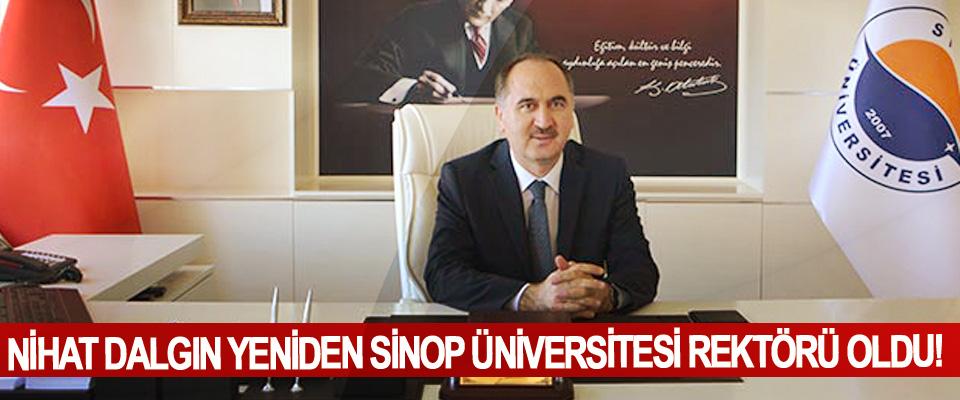 Nihat Dalgın yeniden Sinop Üniversitesi rektörü oldu!
