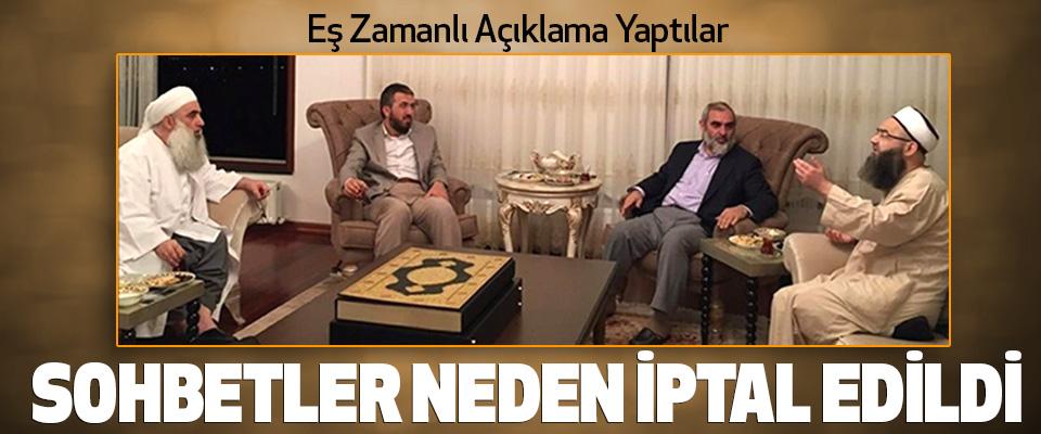 Nureddin Yıldız, Cübbeli Ahmet Hoca ve İhsan Şenocak sohbetlerini neden iptal etti?