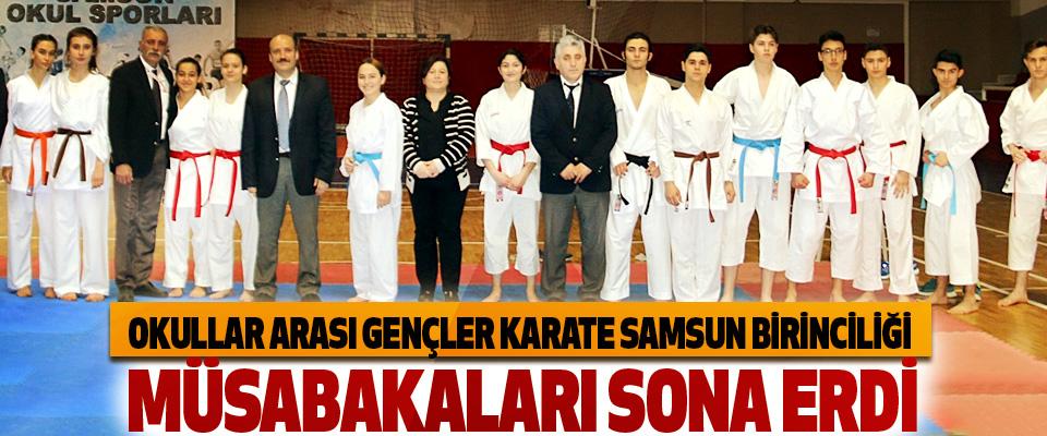 Okullar Arası Gençler Karate Samsun Birinciliği Müsabakaları Sona Erdi