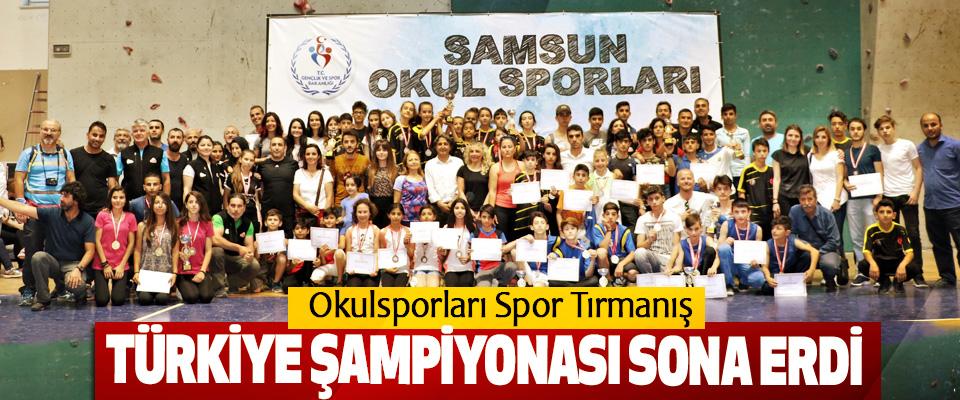Okulsporları Spor Tırmanış Türkiye Şampiyonası Sona Erdi