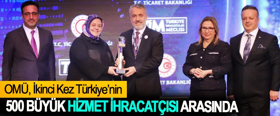 OMÜ, İkinci Kez Türkiye'nin 500 Büyük Hizmet İhracatçısı Arasında