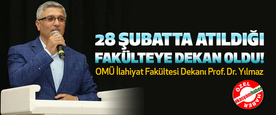 OMÜ İlahiyat Fakültesi Dekanı Prof. Dr. Metin Yılmaz..