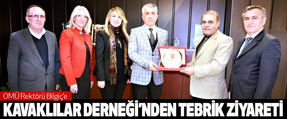 omü Rektörü Bilgiç'e Kavaklılar Derneği'nden Tebrik Ziyareti