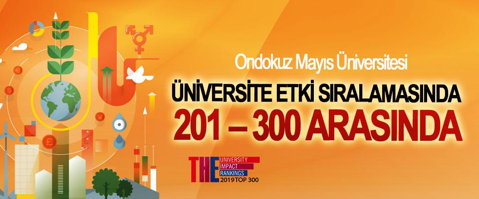 OMÜ Üniversite Etki Sıralamasında 201 – 300 Arasında