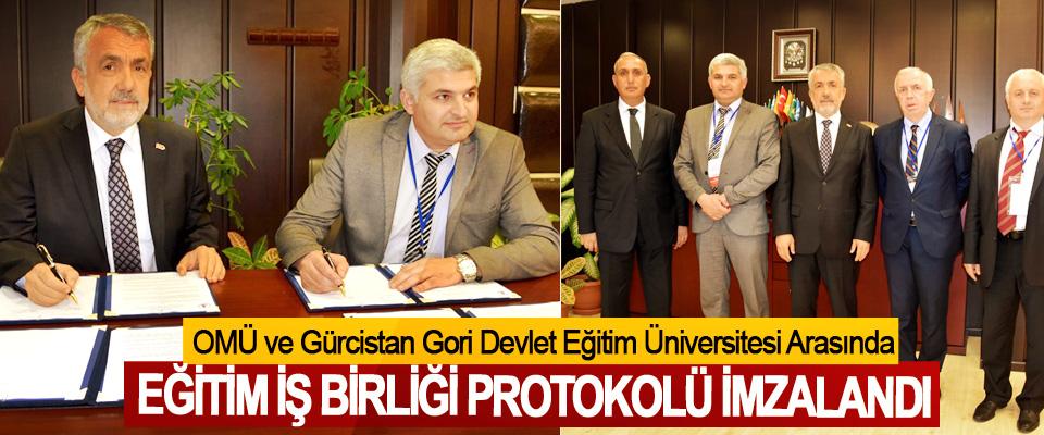 OMÜ ve Gürcistan Gori Devlet Eğitim Üniversitesi Arasında  Eğitim İş Birliği Protokolü İmzalandı