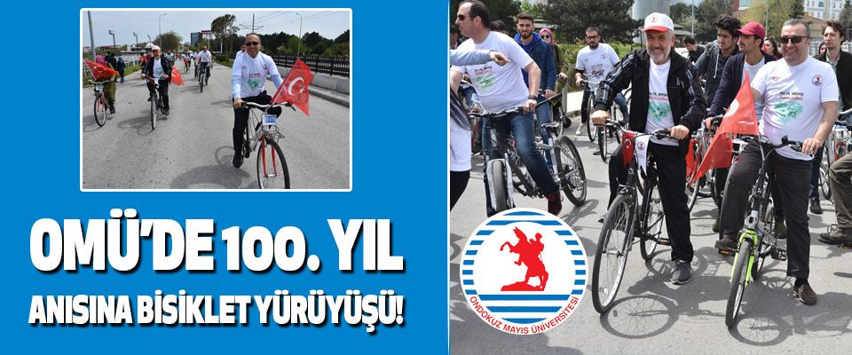 Omü'de 100. Yıl Anısına Bisiklet Yürüyüşü!