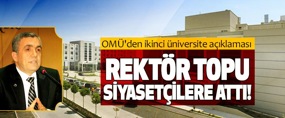OMÜ'den ikinci üniversite açıklaması
