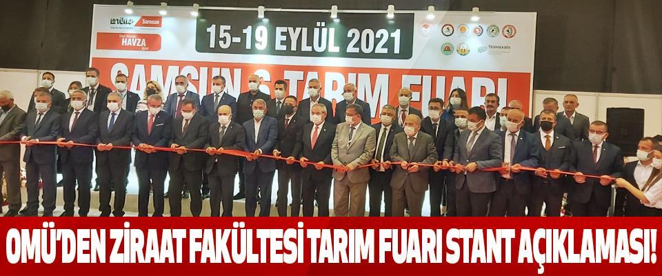 Omü'den Ziraat Fakültesi Tarım Fuarı Stant Açıklaması!