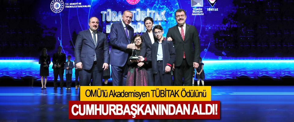 OMÜ'lü Akademisyen TÜBİTAK Ödülünü Cumhurbaşkanından aldı!