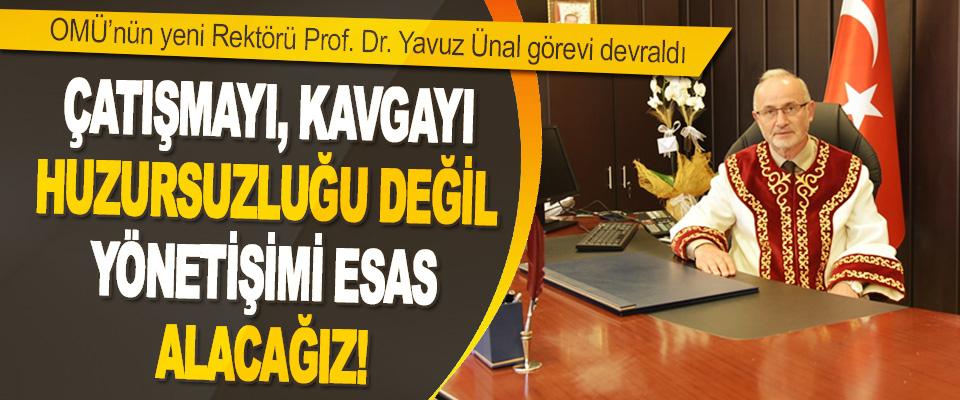 OMÜ'nün Yeni Rektörü Prof. Dr. Yavuz Ünal Görevi Devraldı