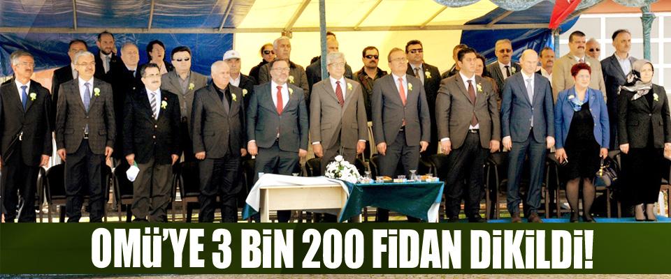 OMÜ'ye 3 Bin 200 Fidan Dikildi!