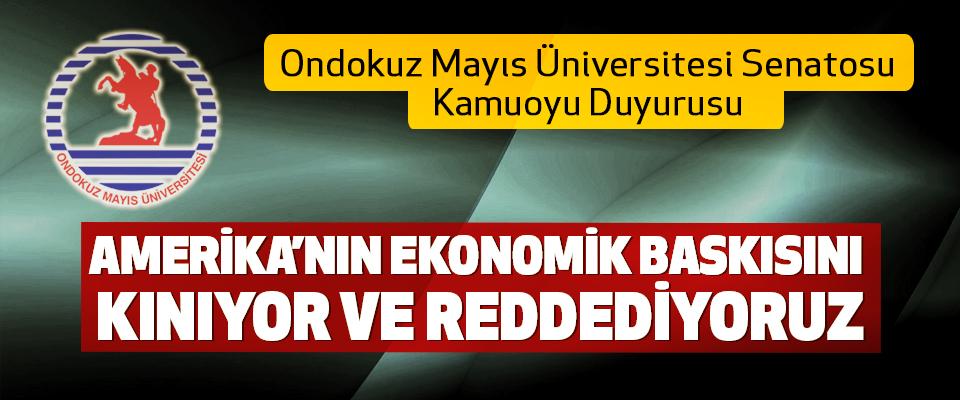 Ondokuz Mayıs Üniversitesi Senatosu Kamuoyu Duyurusu