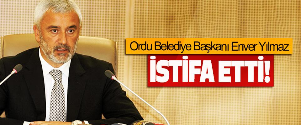 Ordu Belediye Başkanı Enver Yılmaz, istifa etti!