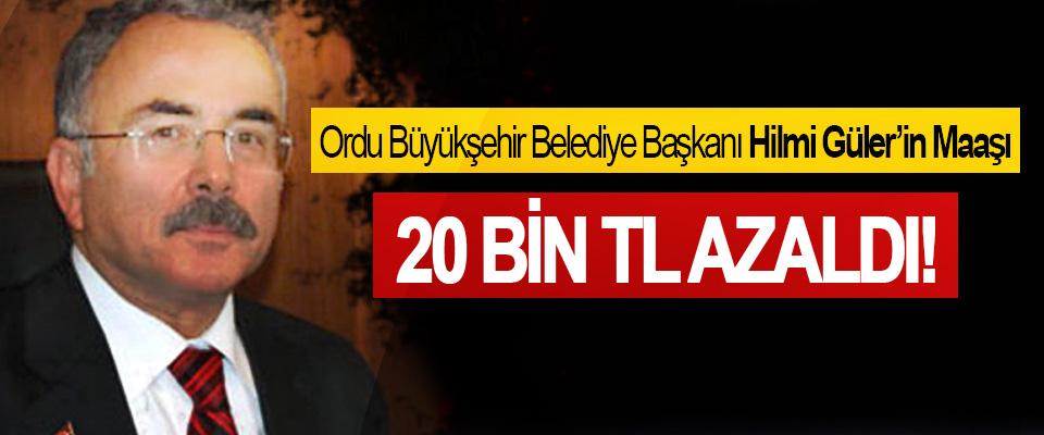 Ordu Büyükşehir Belediye Başkanı Hilmi Güler'in Maaşı 20 Bin TL Azaldı!