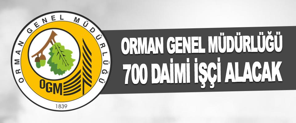 Orman Genel Müdürlüğü 700 Daimi İşçi Alacak