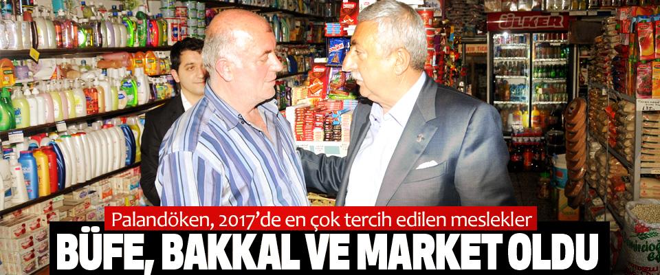 Palandöken, 2017'de en çok tercih edilen meslekler Büfe, Bakkal Ve Market Oldu