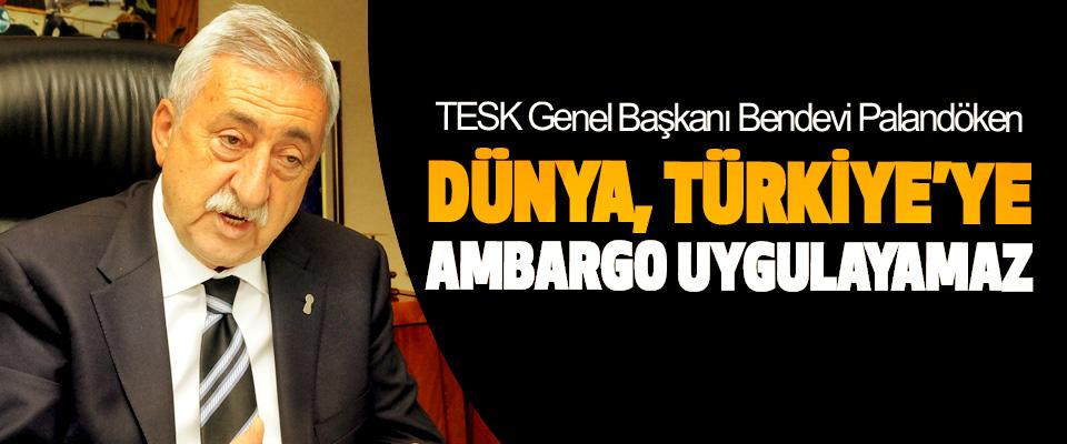 Palandöken: Dünya, Türkiye'ye Ambargo Uygulayamaz