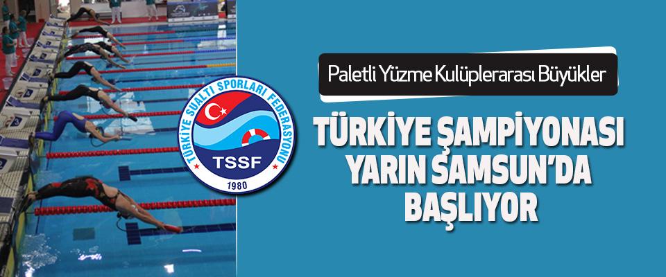 Paletli Yüzme Kulüplerarası Büyükler Türkiye Şampiyonası Yarın Samsun'da Başlıyor