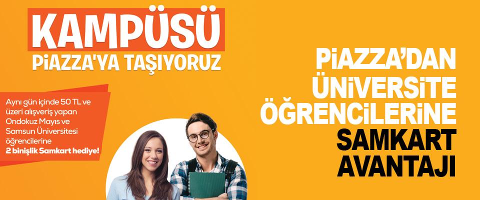 Piazza'dan Üniversite Öğrencilerine Samkart Avantajı