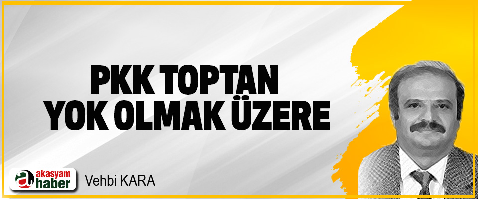 PKK Toptan Yok Olmak Üzere