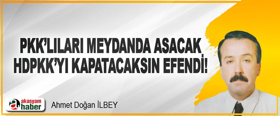 Pkk'lıları Meydanda Asacak, HDPKK'yı Kapatacaksın Efendi!