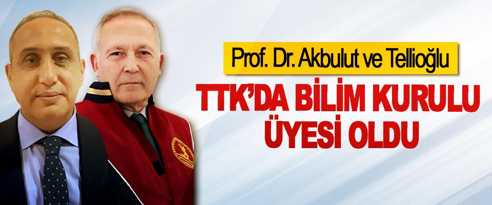 Prof. Dr. Akbulut ve Tellioğlu TTK'da bilim kurulu üyesi oldu
