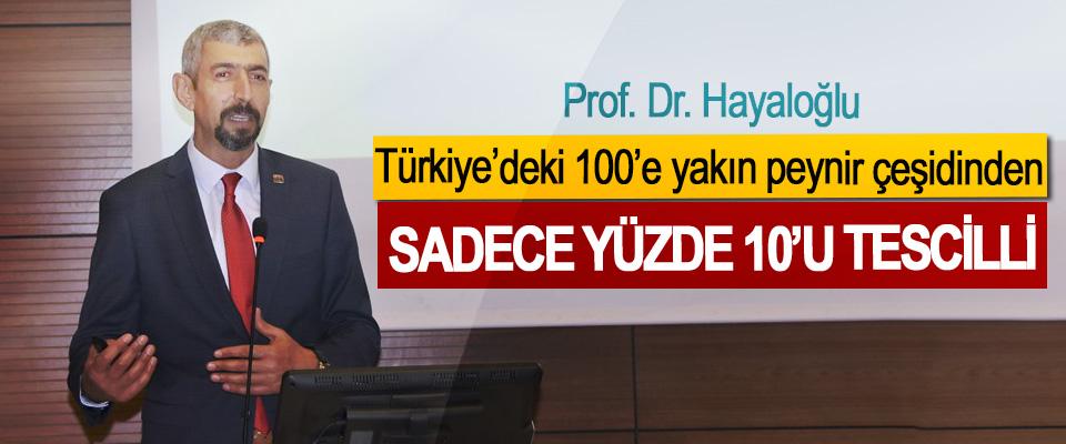 Prof. Dr. Hayaloğlu:  Türkiye'deki 100'e yakın peynir Çeşidinden Sadece Yüzde 10'u Tescilli