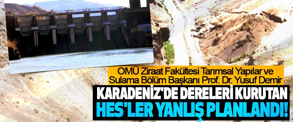 Prof. Dr. Yusuf Demir: Karadeniz'de dereleri kurutan HES'ler yanlış planlandı!