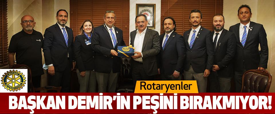 Rotaryenler Başkan Demir'in Peşini Bırakmıyor!