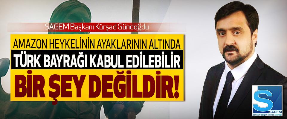 SAGEM Başkanı Kürşad Gündoğdu: Amazon heykelinin ayakları altında Türk Bayrağı kabul edilebilir bir şey değildir!