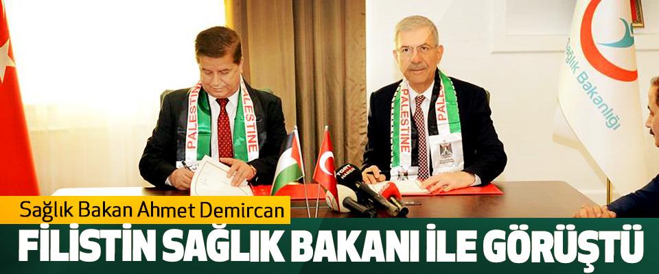 Sağlık Bakan Ahmet Demircan Filistin Sağlık Bakanı İle Görüştü