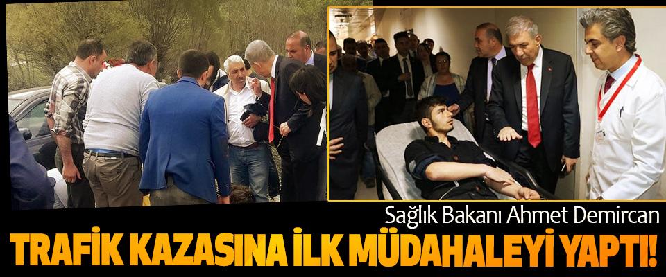 Sağlık Bakanı Ahmet Demircan Trafik Kazasına İlk müdahaleyi yaptı!