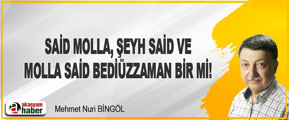 Said Molla, Şeyh Said Ve Molla Said Bediüzzaman Bir Mi!
