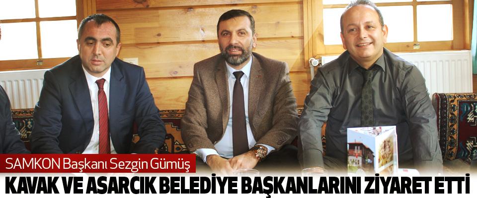 SAMKON Başkanı Sezgin Gümüş Kavak Ve Asarcık Belediye Başkanlarını Ziyaret Etti