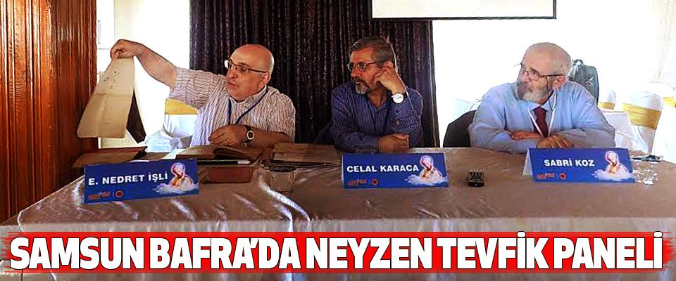 Samsun Bafra'da Neyzen Tevfik Paneli