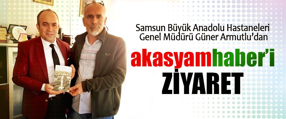 Samsun Büyük Anadolu Hastaneleri Genel Müdürü Güner Armutlu'dan Akasyamhaber'i ziyaret!