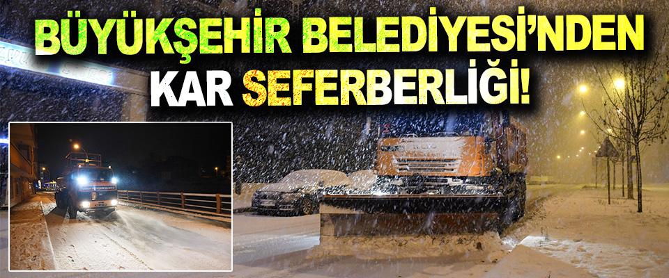 Samsun Büyükşehir Belediyesi'nden Kar Seferberliği!